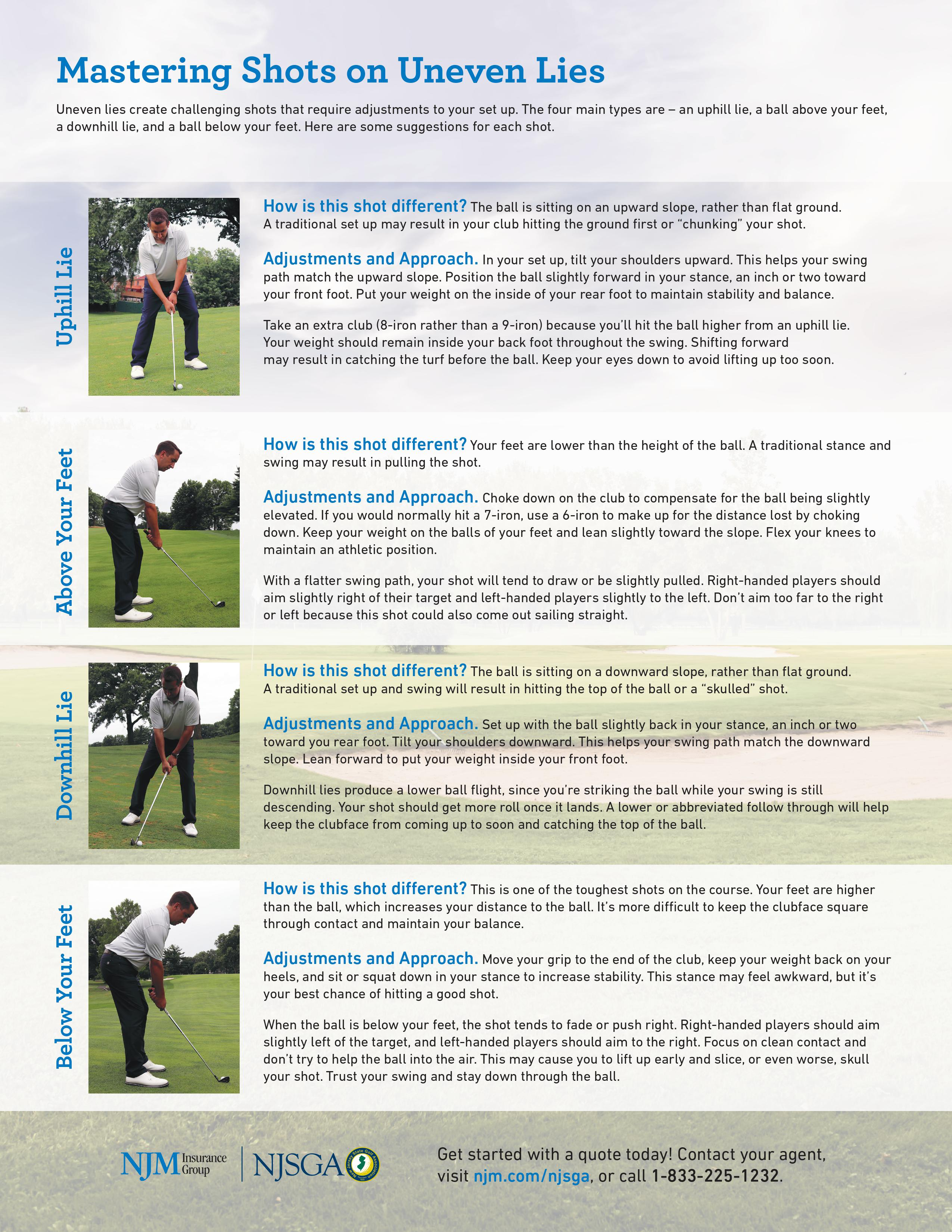 Mastering Shots on Uneven Lies